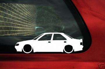 2x LOW Peugeot 405 Mi16 16v, GR, SRi Silhouette outline stickers